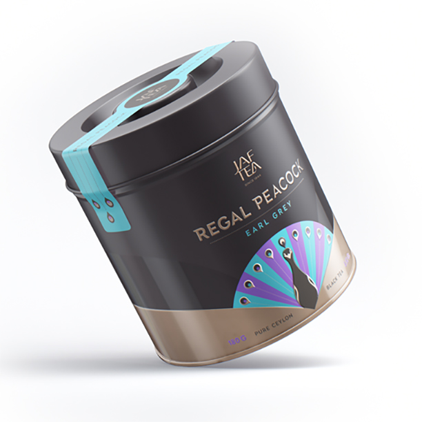 Чай черный лист. JAF TEA Regal Peacock Earl Grey RP 180г в ж/б