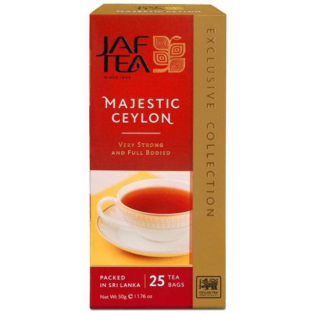 Чай черный пакет JAF TEA Majestic EC 25*2г