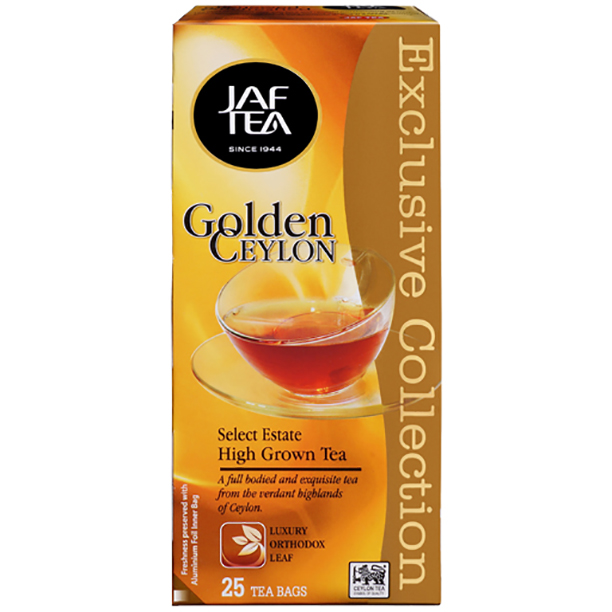 Чай черный пакет. JAF TEA Golden Ceylon EC 25*1.5г